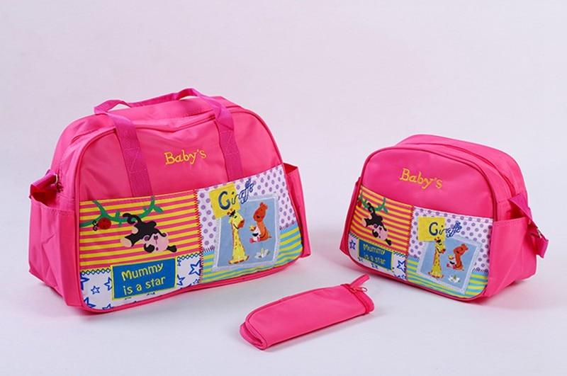 MOTOHOOD 4pcs Baby Diaper Bag Sets For Mom Cute Animal Baby Stroller Bag Organizer Fashion Maternity Bags Handbags For Moms (5)