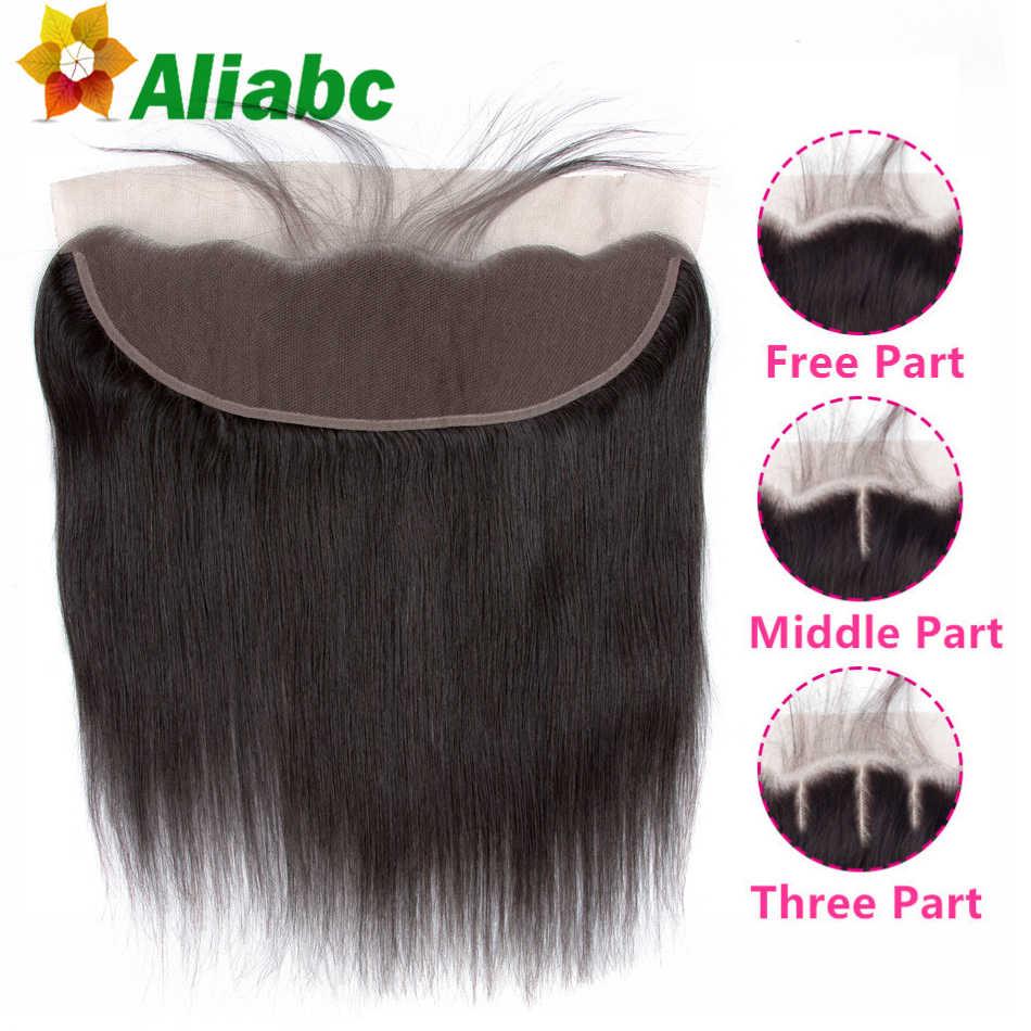 Aliabc Кружева Фронтальная Закрытие бразильские прямые натуральные цвета 13x4 человеческие волосы закрытие с детские волосы для наращивания Бесплатная доставка