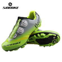 SIDEBIKE Cycling Shoes Men Ultra-light Carbon Fiber Mountain Bicycle Bike Zapatillas Ciclismo Racing Self-Locking MTB Bike Shoes