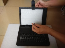 10.1 inch micro USB  keyboard cases cover for  tablet pc accessories with English and Russian letter keyboard