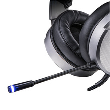 VKO Noise Reduction Stereo gaming Headset Metal Texture Big Earmuffs For Video Game Headphone with microphone For PS4 Computer