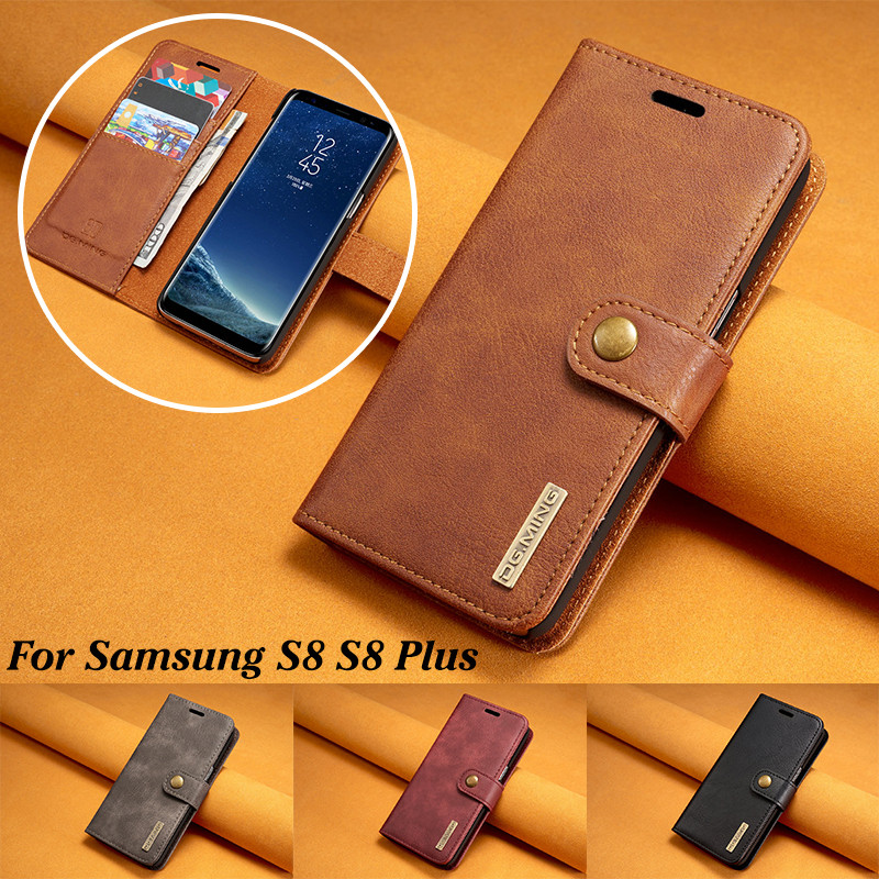 b6df73b3448 Cheap DG funda de cuero de lujo de marca MING para Samsung S8 Plus  desmontable 2