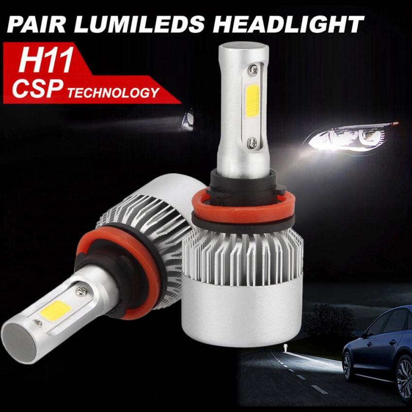 H11 180W 18000LM 2-Sided LED Headlight Kit Low Beam Bulbs 6000K White High Power Bulb 2-Side High power Long range