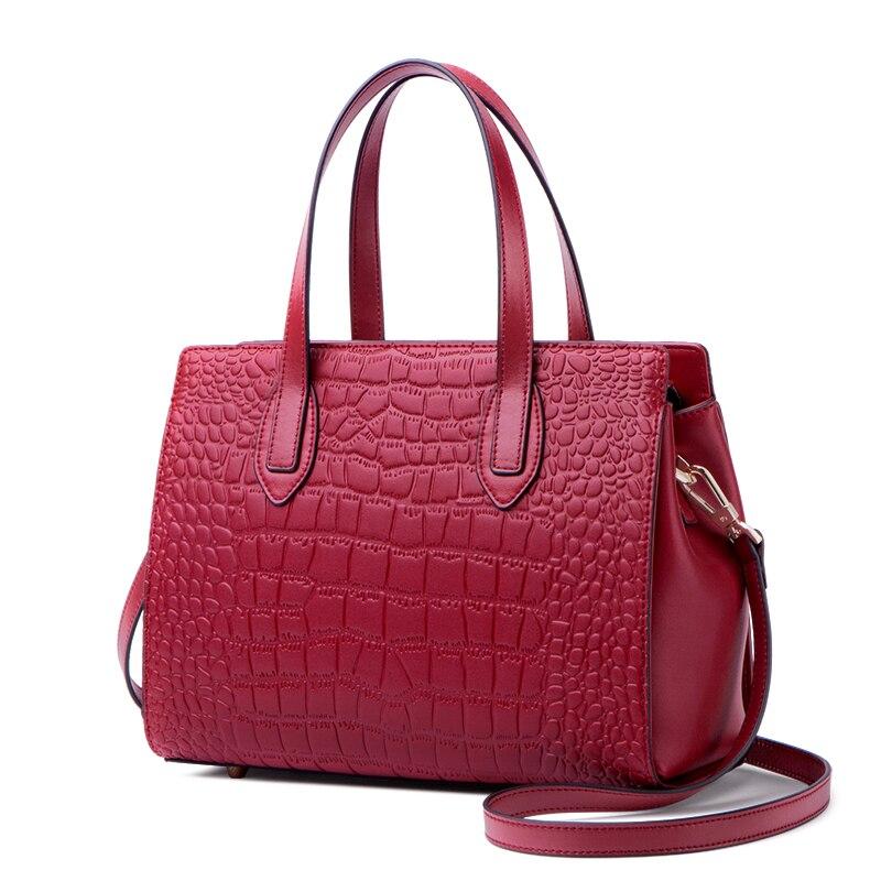 Femmes Pour En Vache Luxe Bandoulière Zooler De Main Nouvelle Noir 2019 Sacs Vintage Véritable Épaule Femelle rouge Haute Sac Ks201 Cuir À Couture xYT8Pwq