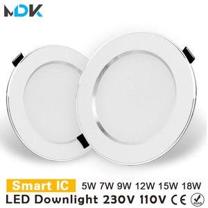 LED Downlight 3W 5W 7W 9W 12W 15W 18W Round Recessed Lamp 220V 230V 240V 110V Led Bulb Bedroom Kitchen Indoor LED Spot Lighting(China)