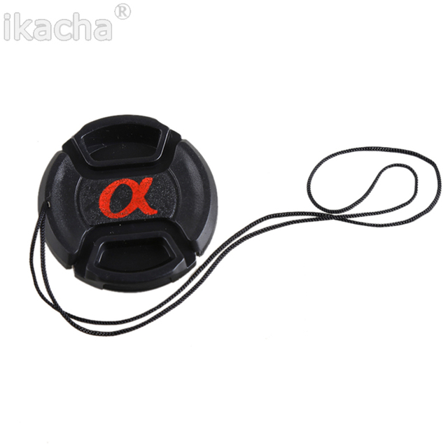 49mm 52mm 55mm 58mm 62mm 67mm 72mm 77mm 82mm Snap On Lens Front Camera Cap Cover For Sony Alpha DSLR Protector