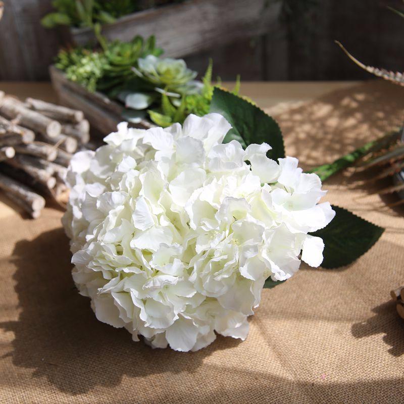 Konstgjorda Hortensia Blommor Bouquet 5 Branches / Bunch Fake Flowers - Semester och fester - Foto 6