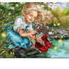 5D Diamond Painting Cross Stitch Mosaic Kits Needlework Girls With Red Shoes Painting Rhinestones Diamond Embroidery
