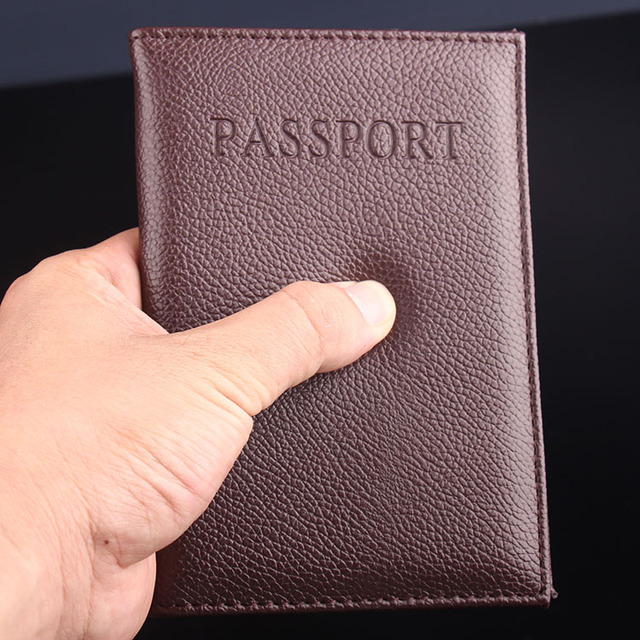 PU passport holder ID credit card ticket travel passport cover protective Trendy Passport Case 1