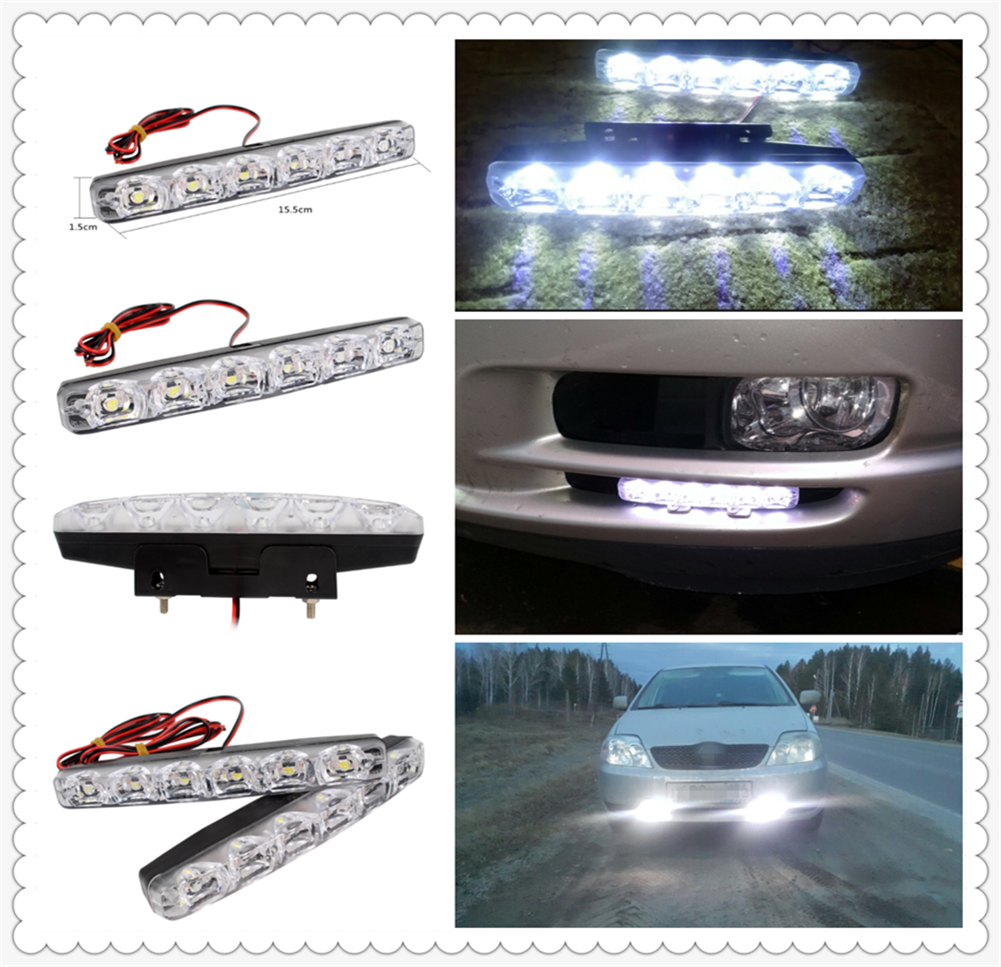 2pcs LED motorcycle car daytime running lights modeling anti-fog for Jeep Renegade Cherokee Wrangler Compass Patriot