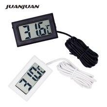 ميزان حرارة صغير رقمي LCD 50 قطعة/وحدة مستشعر درجة الحرارة مجمد الثلاجة 10%