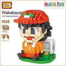 LOZ Blocks Cartoons Captain Tsubasa Wakabayashi Genzo Football Soccer Goalkeeper Figure Action Anime Toys For Children Nano 9550