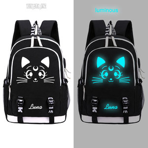 Image 5 - Sailor Moon Luminous Luna Cosplay Backpack Rucksack Women Men Japan Anime Laptop Schoolbag Mochila Bookbag