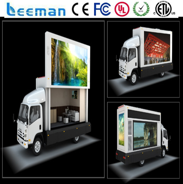 US $383 79  Leemanled Mobile Video led Signs digital advertisement led  display Outdoor led truck screen for sale-in LED Displays from Electronic