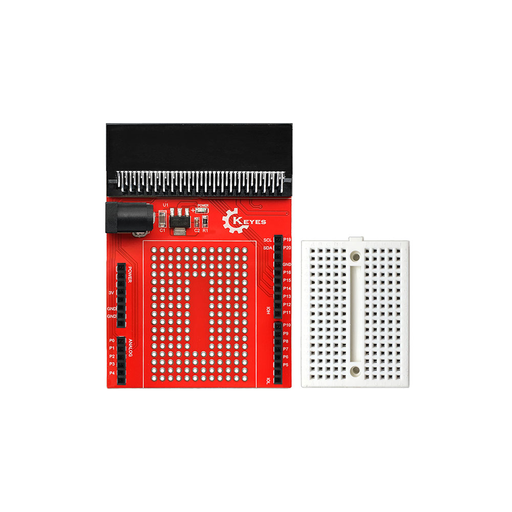 For Micro:bit Prototype Breakout Board  Universal Panel Development Board  With Breadboard Python Graphical Programming