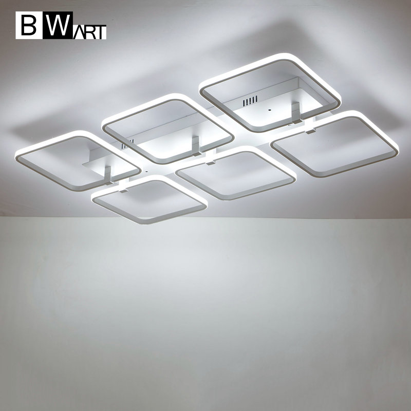 BWART Square surface mounted modern led ceiling lights for living room Bedroom ceiling lamp fixture indoor