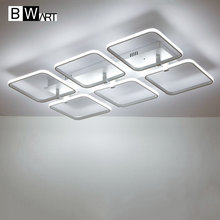 BWART Square surface mounted modern led ceiling lights for living room Bedroom ceiling lamp fixture indoor home decorative