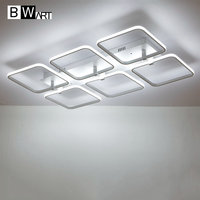 BMART Square Surface Mounted Modern Led Ceiling Lights For Living Room Bedroom Ceiling Lamp Fixture