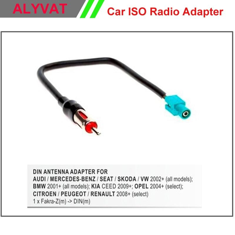 Audi,Fiat,Mercedes,Peugeot,Seat,VW,Skoda ADAPTADOR ANTENA RADIO COCHE DIN-FAKRA