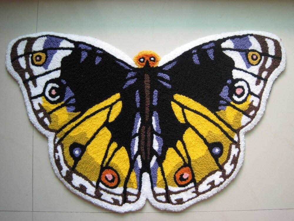 2014 Vente Chaude Tapetes De Sala Tapis Et Tapis Tapete Papillon En Forme de Tapis. chambre Lit Tapis antidérapants Élégamment Décoré Paillasson