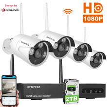 1080P Wireless Security Camera System 4CH 1080P NVR Kit IP Camera Waterproof Wifi Surveillance CCTV System Sensor by Hisilicon