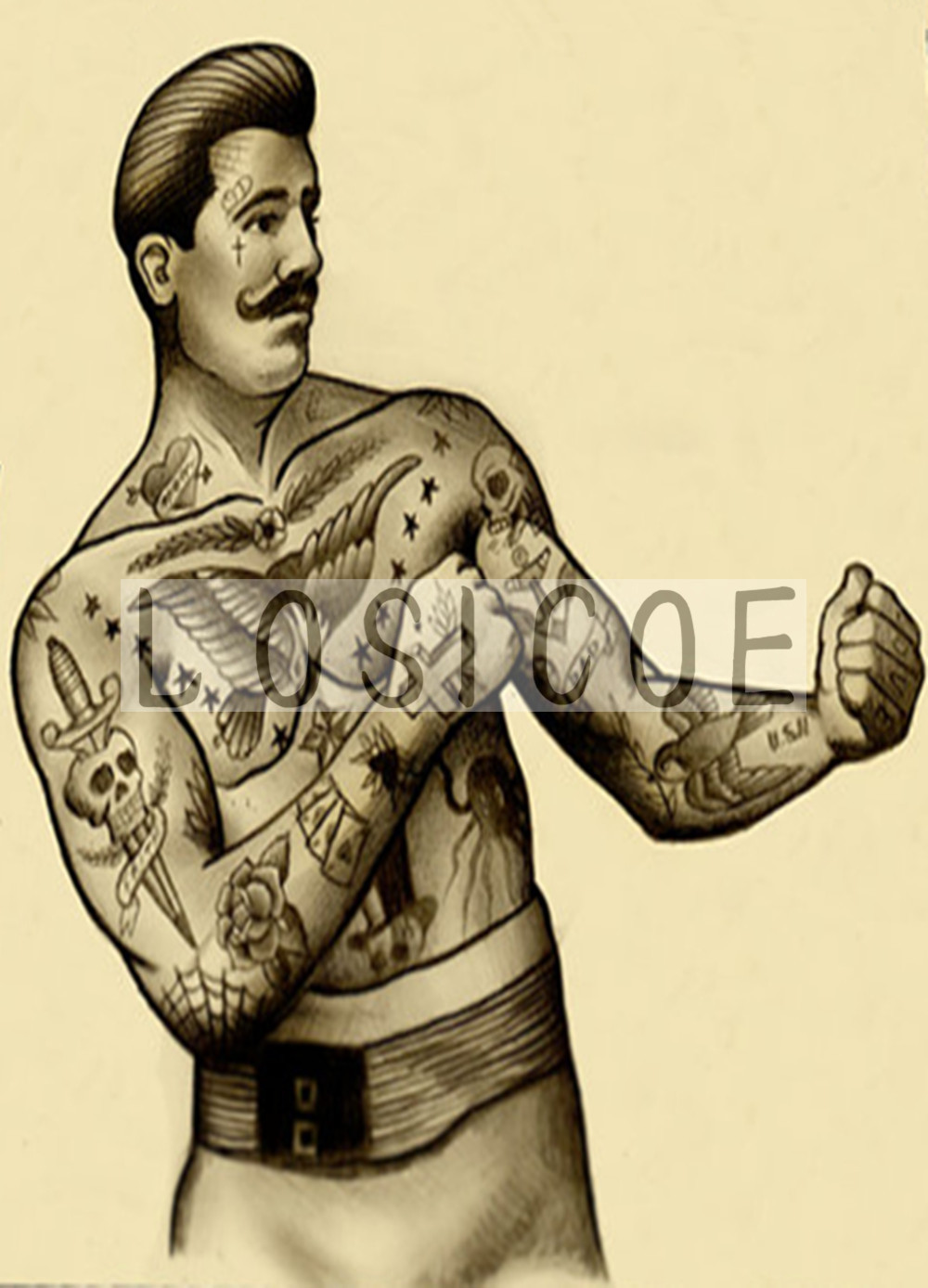 Beautiful Tattoo Shop Wall Art Vignette - Wall Art Collections ...