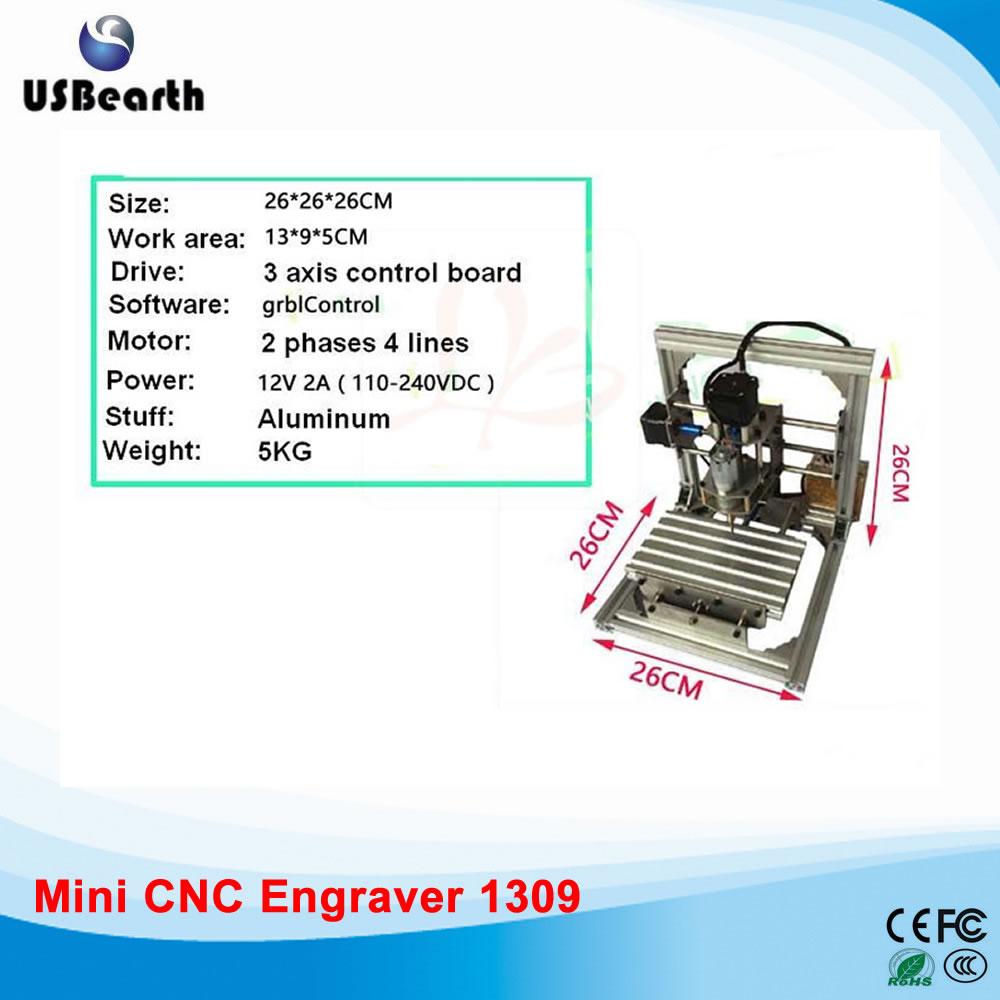 Cheapest DIY 1309 Mini cnc router machine, PCB Milling Machine, Working Area 13*9*5cm, free tax to Russia russia free tax cnc 6040z frame of drilling and milling machine for diy cnc router