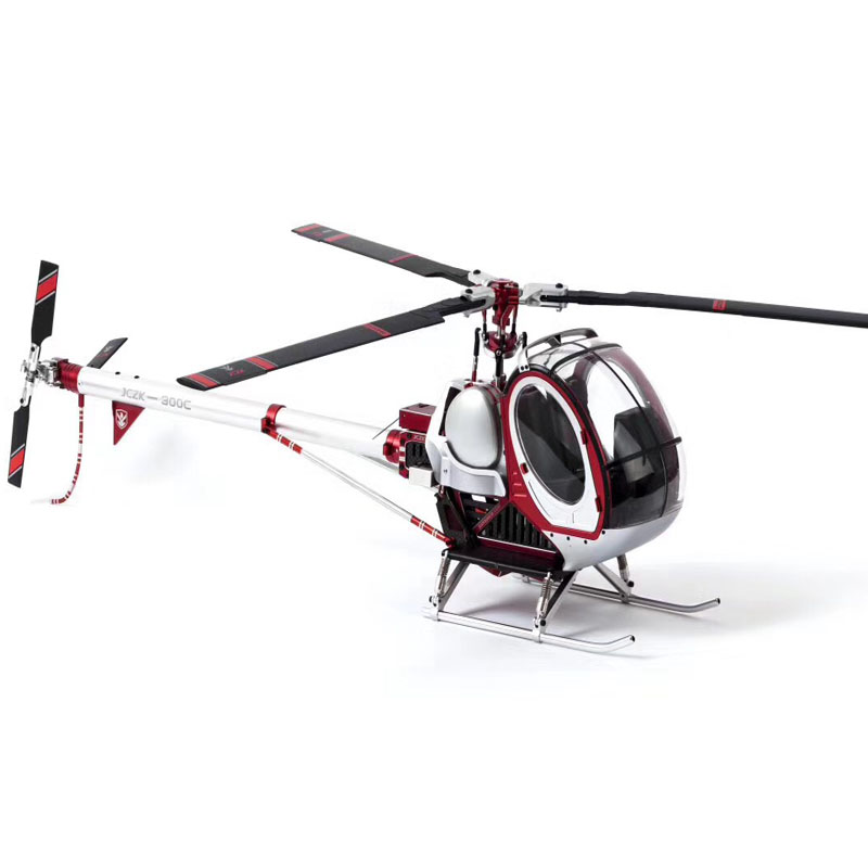 Hughes 300C Scale SCHWEIZER Full-Metal 9CH RC Helicopter Brushless RTF Set DFC High Simulation Electric Helicpter with Gyro ESC