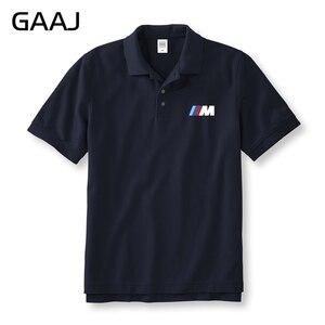 Image 1 - Polos de la serie M para hombre y mujer, camisas Unisex de talla grande con letras estampadas, Polos, ropa de marca
