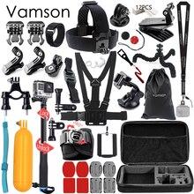 Vamson dla Gopro Hero 6 5 Akcesoria Zestaw Duży Zbiór Polu Monopod dla Gopro hero 5 4 dla SJCAM dla yi 4 k Kamera Sportowa VS03