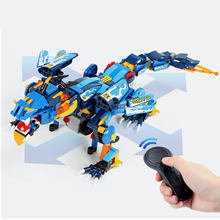 Legoing Ninjagoes Dragão RC Controle Remoto Ninjagoed Stormbringer Hunter Trovão Espadachim Building Blocks Iluminai Bricks Toy(China)