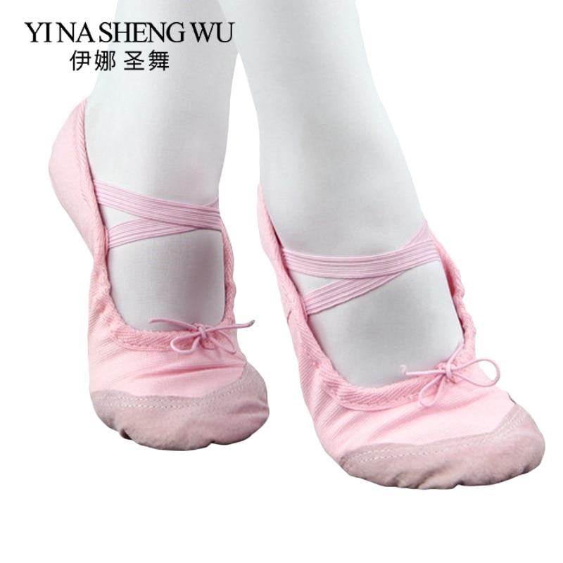 Wholesale Children Girls Kids Soft Sole Ballet Dance Shoes 1 Pair Professional Ballet Dance Practice Performance Shoes 5 Colors