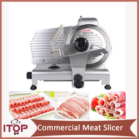 10 Blade Commercial Meat Slicer Electric Deli Slicer Veggies Cutter Kitchen Cutting Machine 110V Only For