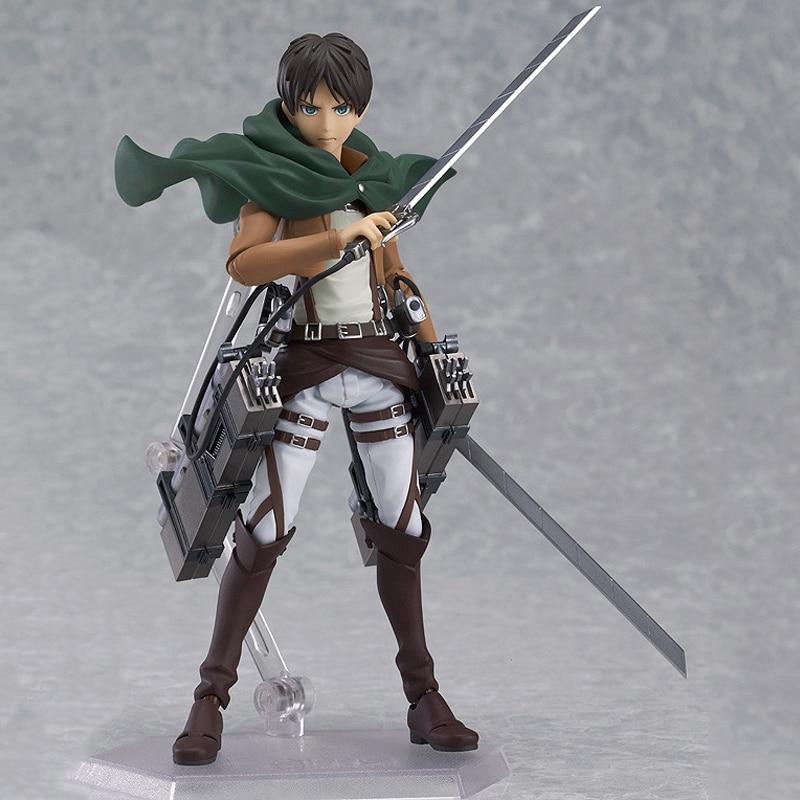 Anime Attack on Titan Figure 14cm Shingeki no Kyojin Eren Jaeger Figma PVC Action Figure Collectible Model Toy Christmas Gifts
