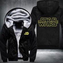 New Star Wars Winter Fleece Herren Sweatshirts Kostenloser Versand USA Größe fasten schiff 5-10 tage kommen