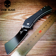 195mm 100% D2 Blade Ball Bearing Knives G10 Handle Folding Knife Tactical Survival Knife Outdoor Camping EDC Tool Utility Knife недорого