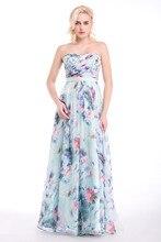 Lager Sexy Schatz Lange Abendkleid Floral Blumenmuster Chiffon Langes Kleid Abendkleider