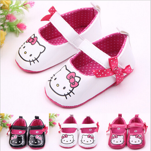 Lovely Cartoon Baby Shoes Infants Girls PU First Walkers Soft Sole Newborn Crib Shoes Toddlers Girls Princess Shoes