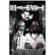 Affiche de la Note de mort, décoration murale imprimée, classique, Anime L et la nuit, dieu, 30x45cm, 60x90cm