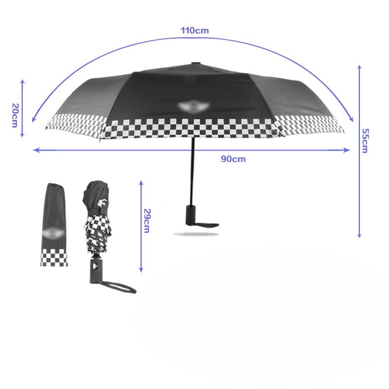 Image 2 - Wind Resistant Folding Automatic Umbrella Rain Women Auto Luxury Big Windproof Umbrellas Rain For mini Men Black Coating Parasol-in Waterproof Umbrella Sets from Automobiles & Motorcycles