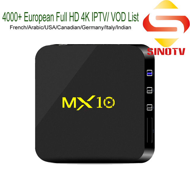 US $71 68 |Aliexpress com : Buy 4K IPTV Box Android 9 0 MX10 RK3328 French  Nederland Deutschland Spain Canada USA TV Channels Norway Belgique TV