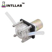 INTLLAB DIY перистальтический насос дозирующий насос, работающего на постоянном токе 12 В, высокую скорость течения для аквариума Лаборатория аналитического