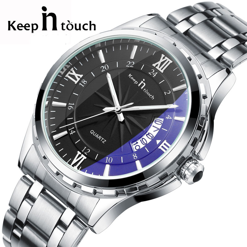Men Watches Top Brand Luxury Male Watch Stainless Steel Display Calendar Fashion Business Watch Quartz-Watch top brand luxury watch men analog quartz clock stainless steel band roman numerals wristwatch fashion business men s male watch