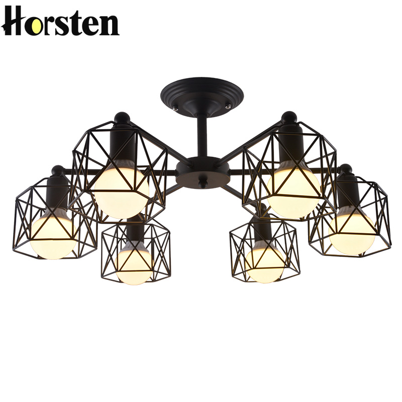 Horsten Nordic Modern Iron Black Pendant Light Wrought ...