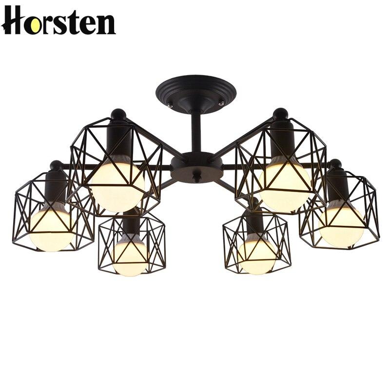 Horsten Nordic Modern Iron Black Pendant Light Wrought ...