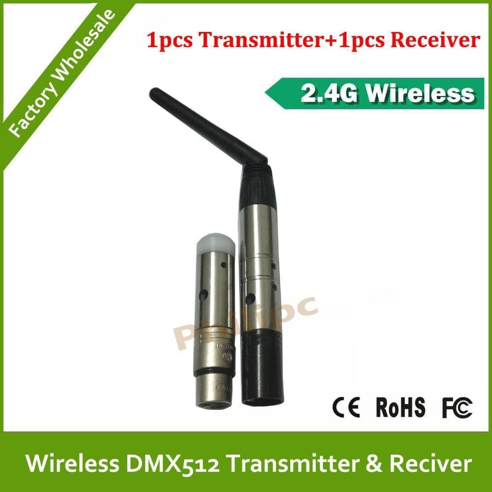 DHL livraison gratuite 3Pin 2.4G contrôleur dmx sans fil sans fil dmx émetteur récepteur sans fil contrôleur DJ