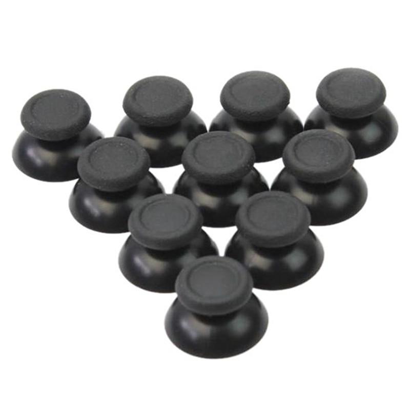 10 Pieces X PS4 Mushroom Head Shape Joystick's Cap Joystick's Hats Caps Baton Buttons Thumbs Controller's Caps Black For PS4