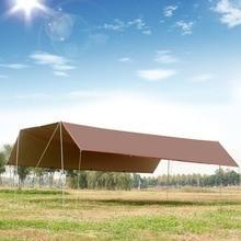 6 м * 8 мбольшая Наружная палатка, навес. Светильник с силиконовым покрытием, высокая водонепроницаемая ткань, многоместный брезент, непромокаемый солнцезащитный тент