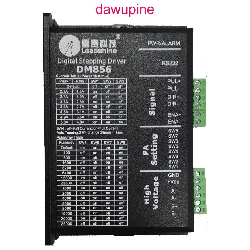 Dawupine шагового двигателя Leadshine DM856 2 фазы 57 86 Цифровой Драйвер шагового двигателя 20-80 В постоянного тока 1A к 5.6A NEMA23 NEMA34
