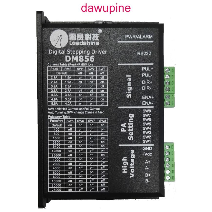 Dawupine Schrittmotorsteuerung Leadshine DM856 2-phasen-schrittmotor 57 86 Digitale Schrittmotortreiber 20-80 Vdc 1A bis 5.6A NEMA23 NEMA34